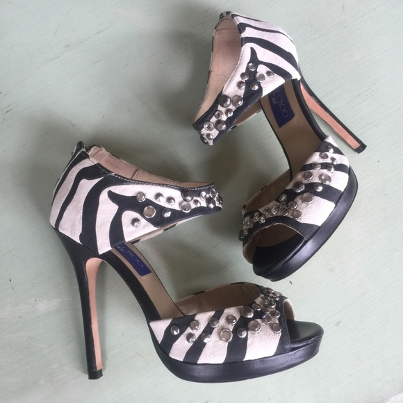 55b75a3879e Jimmy Choo Shoes - 🦓 Jimmy Choo x HM zebra heels 👠